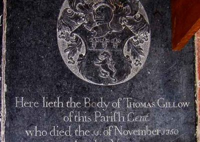 Photograph from the Church floor (taken at the same time as the picture above) - Thomas Gillow 11 November 1750.